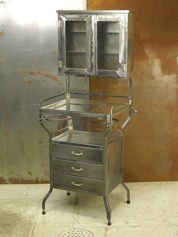 Etonnant VINTAGE CABINET: A Worn Look Will Only Enhance The Sense Of Intrigue.  Crafted Of Steel And Glass, The Vintage Dentist Cabinet Below Offers  Tabletop Storage ...