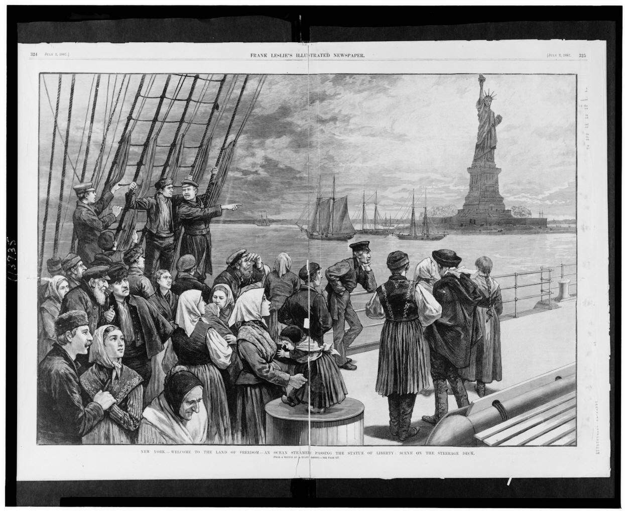 A brief history of the statue of liberty and ellis island in new york