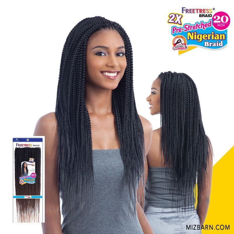 Freetress Crochet Braid 2X PRE STRETCHED NIGERIAN BRAID 20