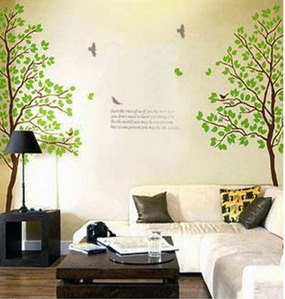 45 vinilos decorativos hermosos originales y modernos adhesivos decorativos vinilo adhesivo - Vinilos decorativos arboles ...