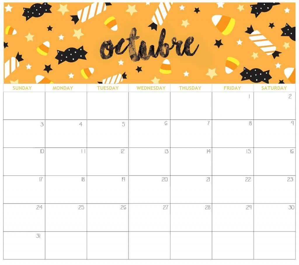 Cute October 2021 Desk Calendar in 2020 | Cute calendar ...
