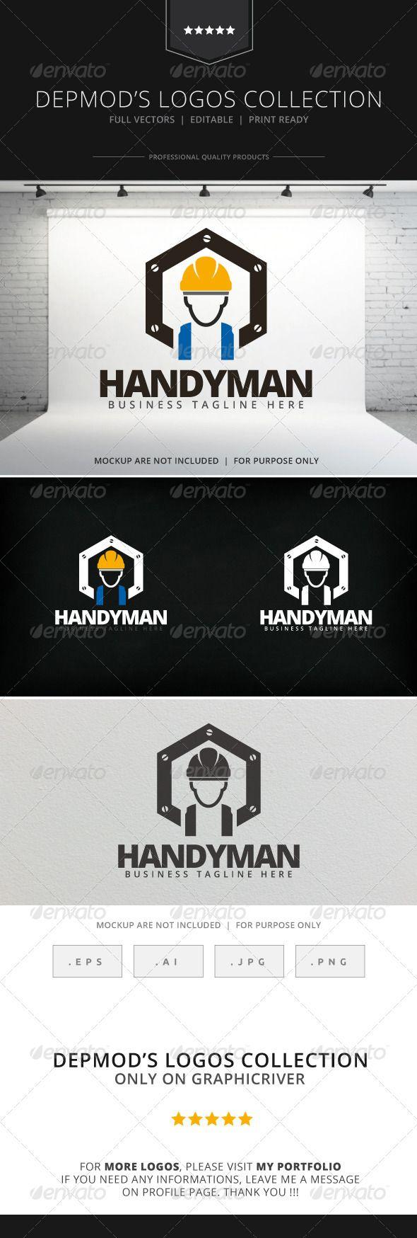 Handyman Logo u2014 Vector EPS #identity #business u2022 Available here u2192 https://graphicriver.net/item/handyman-logo/8017021?ref=pxcr