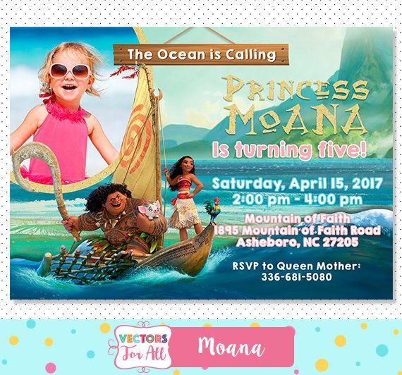 Moana Invitation Moana Party Moana Invite Moana Birthday Maui Sea