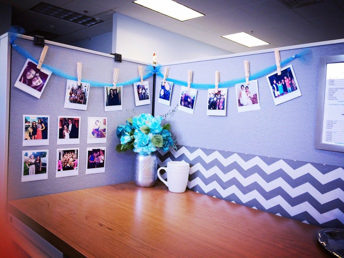 Tutorial to print polaroid photos from home perfect for - Work office decorating ideas pictures ...
