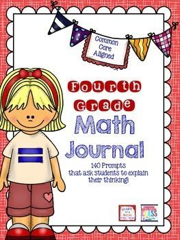 FOURTH GRADE MATH JOURNAL! This product includes 5 math writing prompts for each fourth grade math standard. The preview includes 5 free prompts to sample.