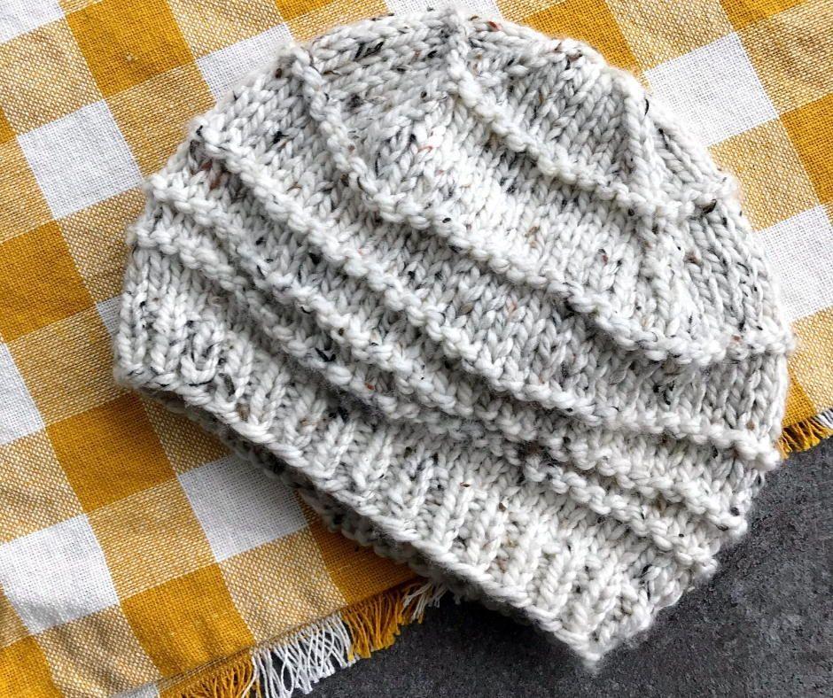 Winter S Wave Hat Pattern Hat Knitting Patterns Knit Hat Pattern Easy Knitted Hats