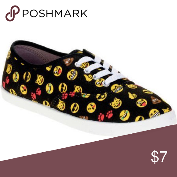 Black emoji shoes