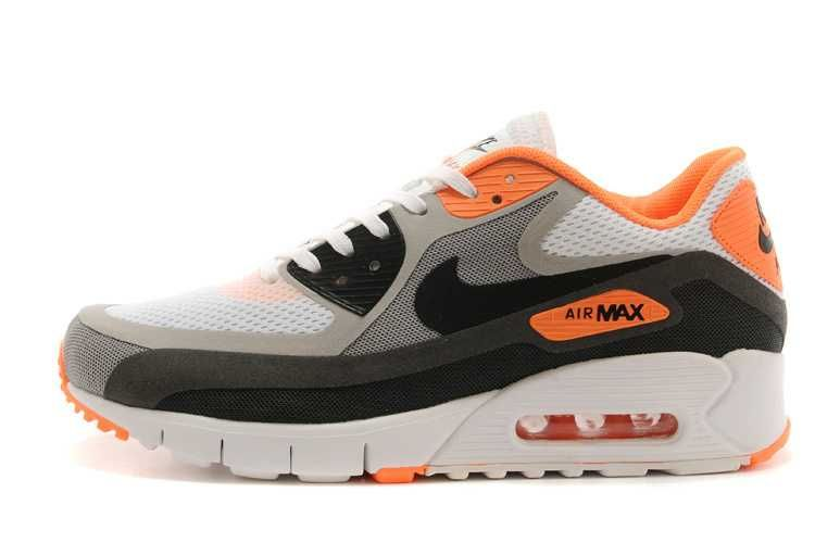 Mens sneakers NK Air Max 90 Breathe white / gray / blue