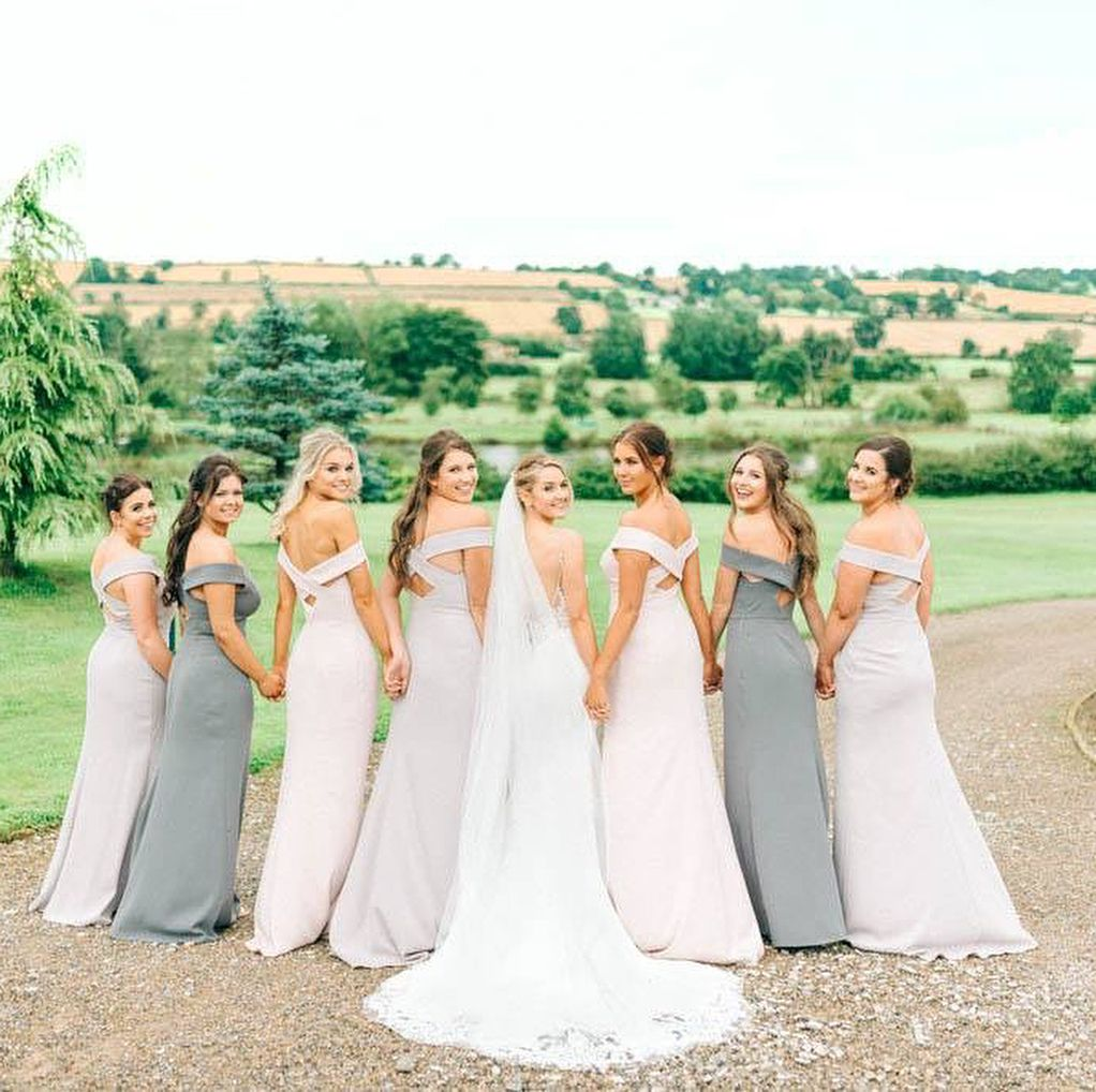 Mix And Match Colours For A Neutral Wedding Party Dessy Bridesmaids Bridesmaiddress