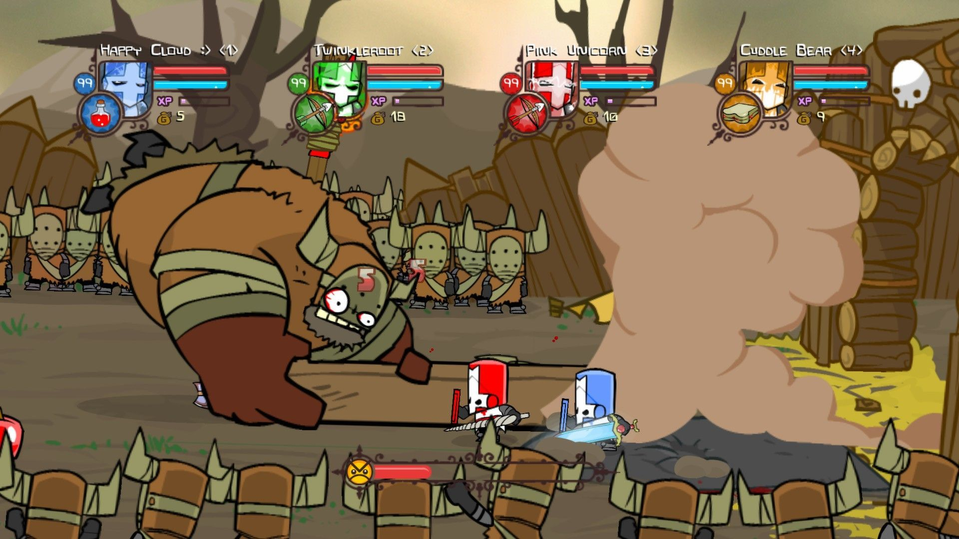 Castle Crashers A lot of cartoon animation wich reminds