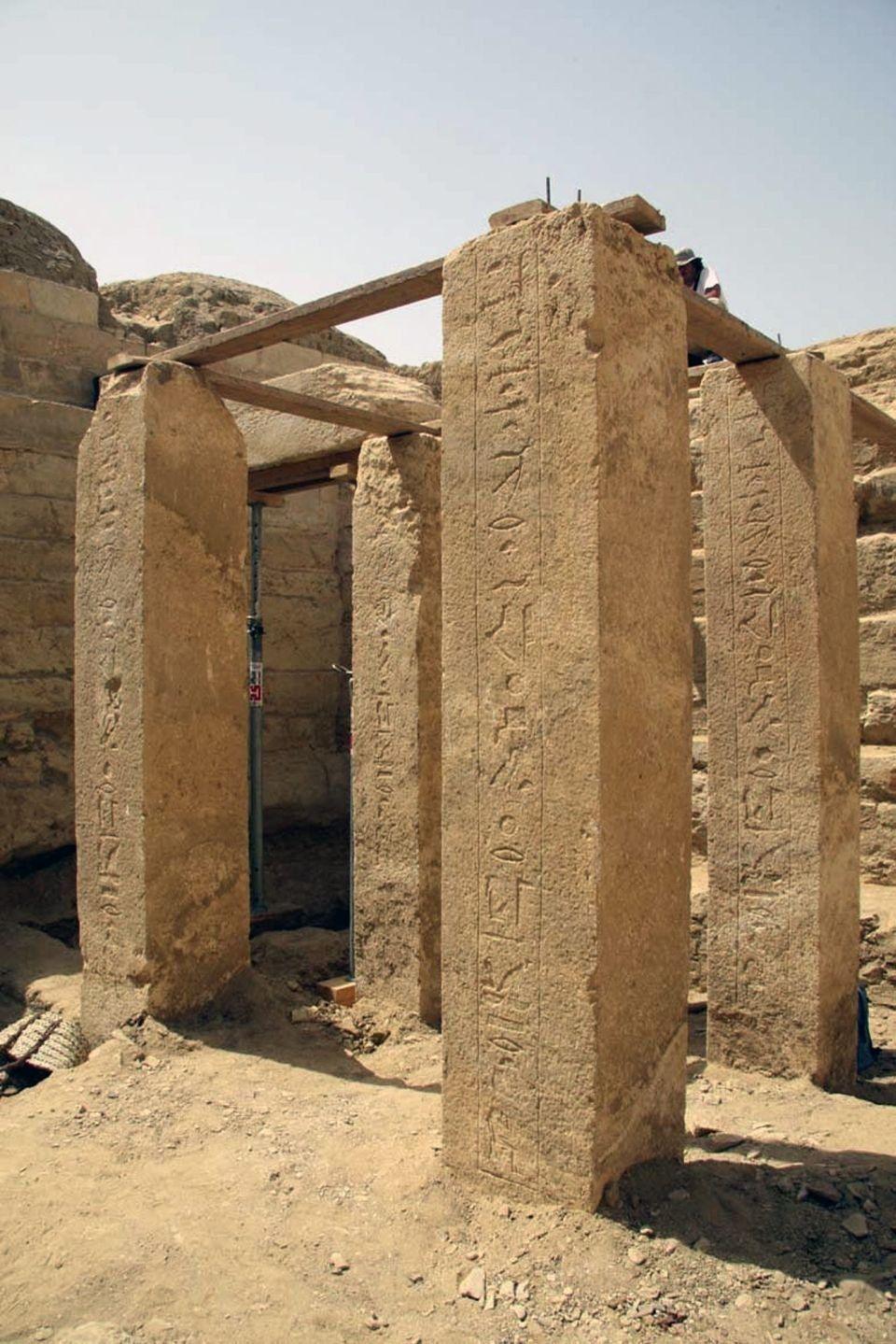 entrance to princess Shert Nebti's tomb discovered in Abu Sir (NW of Saqqara)