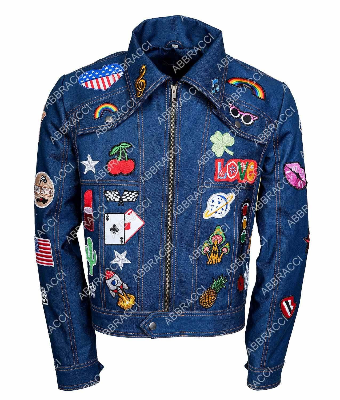 Taron Egerton Tiny Dancer Rocketman Elton John Denim Jean Cosplay Costume Jacket Unisex Jackets Diy Denim Jacket Denim Country [ 1500 x 1275 Pixel ]