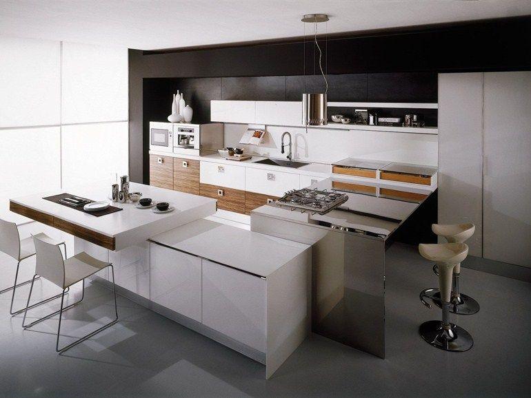 Küche mit Halbinsel DALÍ Kollektion Contemporary by Aran | Küche ...
