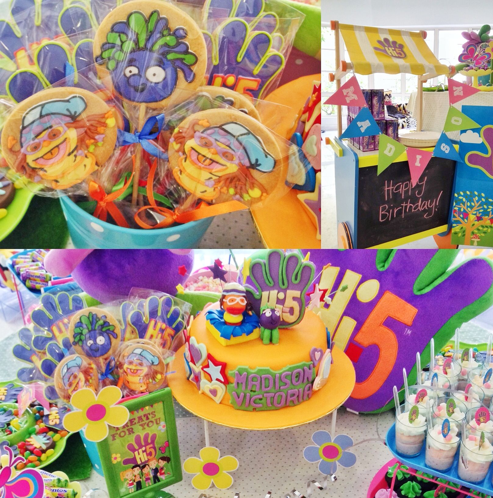 Hi 5 Themed Party My Son Birthday 5th Ideas Diy