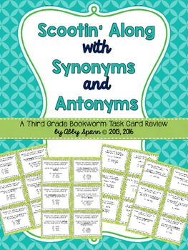 Synonym and Antonym Task Cards {Synonym and Antonym SCOOT