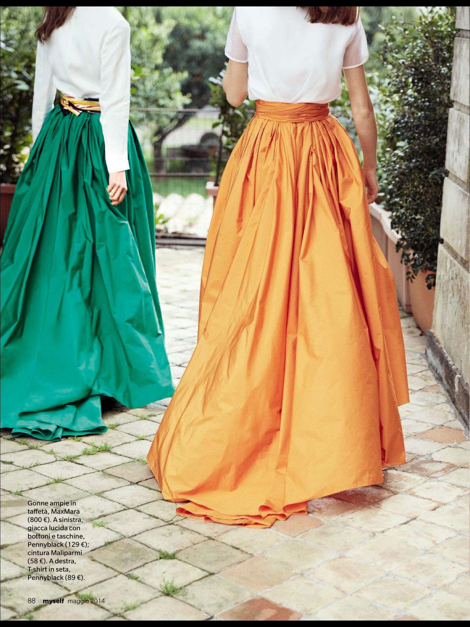 Max Mara elegante summer taffeta skirt  3b23de41a57