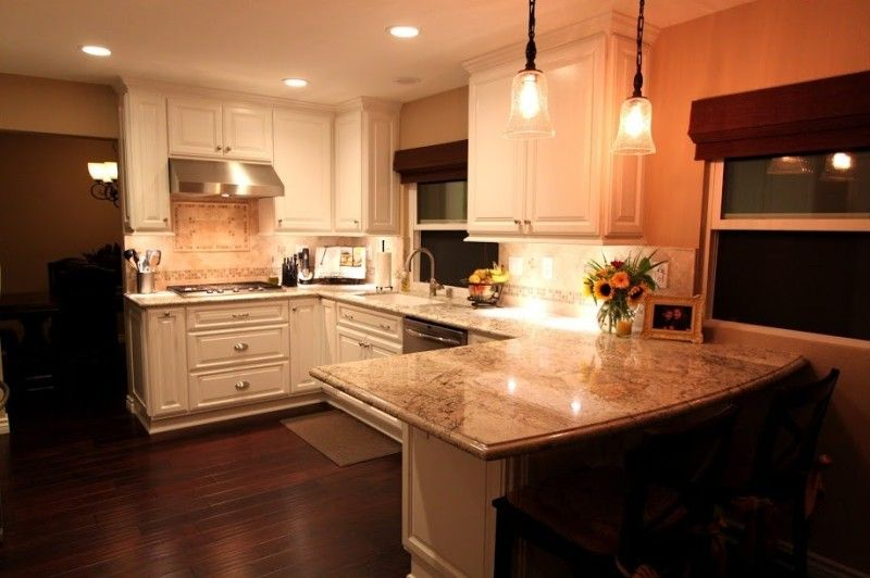 Before U0026 After White Kitchen: Transitional Design Mr. Cabinet Care