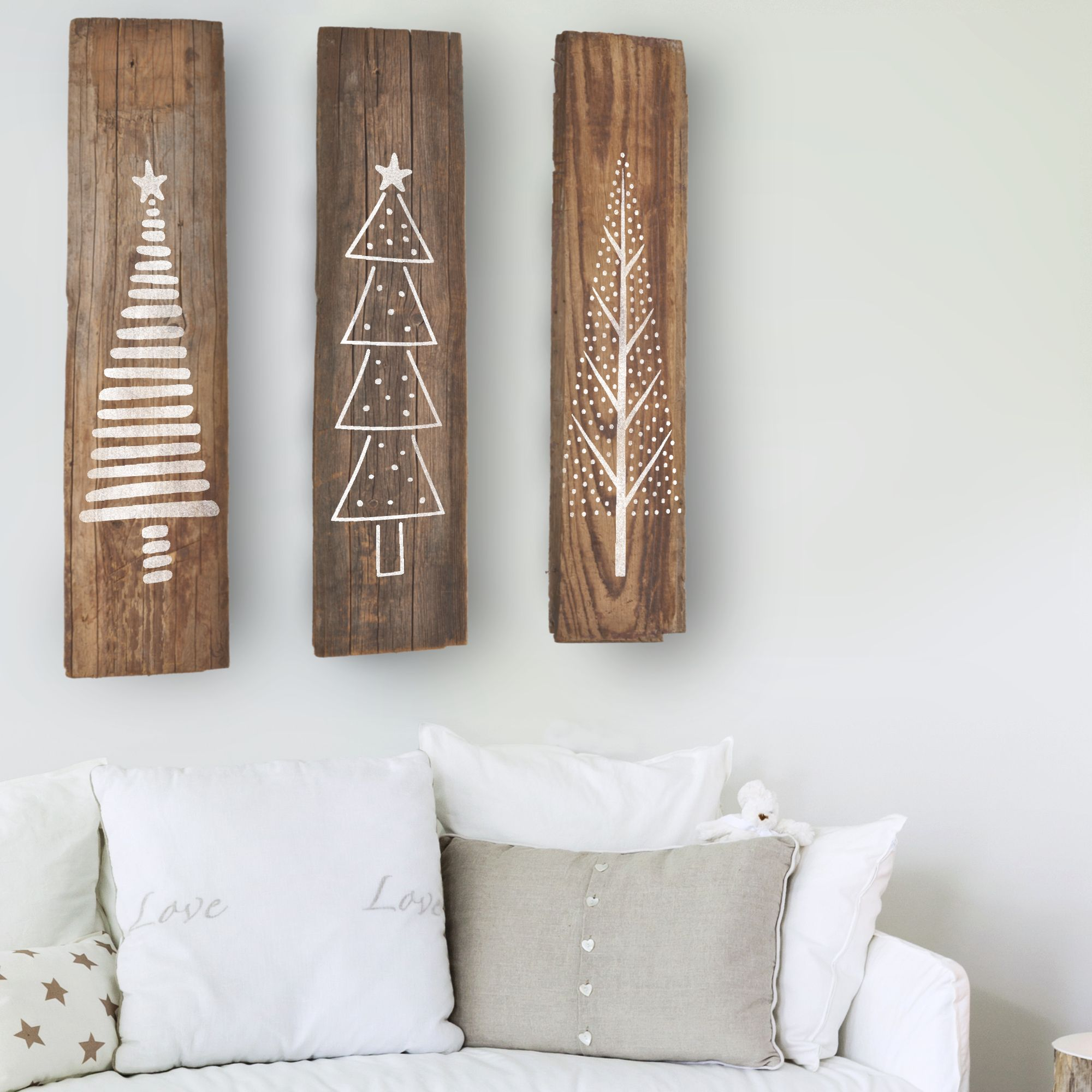 Photo of Set of 3 Christmas Tree Stencils
