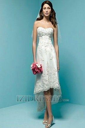 A-Line Princess Sheath/Column Empire Sweetheart Lace Mini Wedding ...