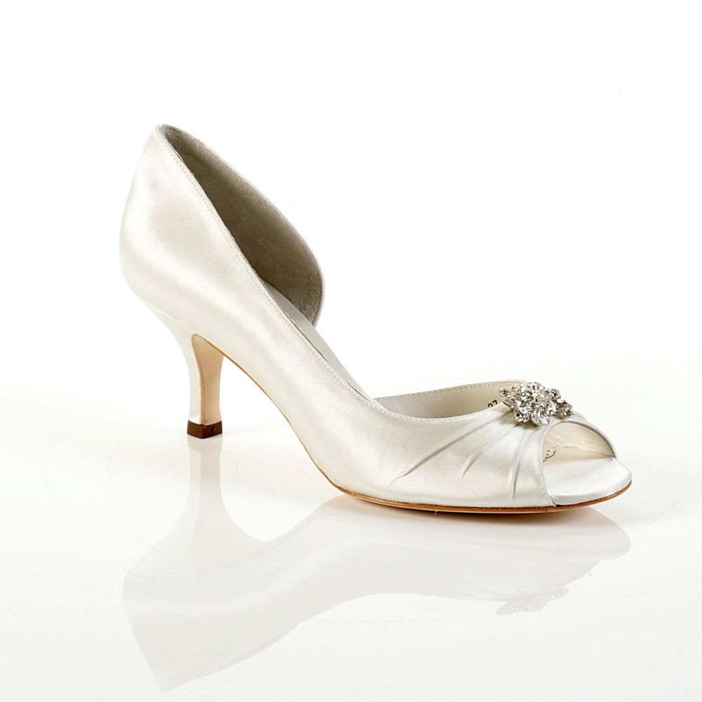 Celine 1930's Style Wedding Shoes W/ A Small Heel. Perfect