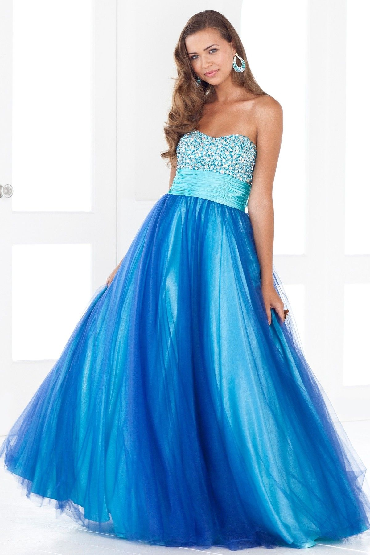 Sequin/Tulle Beaded Sweetheart Ball Gown Prom Dress | Prom Dresses ...