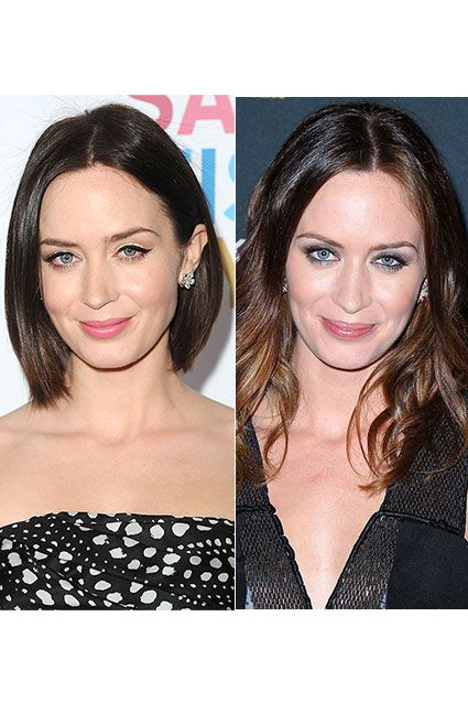 Emily Blunt shows off a blunt, chin-length bob at the premiere of Salmon Fishing In Yemen held at Directors Guild of America on March 5, 2012 in Los Angeles, California. In September, Emily Blunt was snapped with longer locks at a dinner for Salmon Fishing in Yemen hosted by BlackBerry during TIFF on September 10, 2011 in Toronto, Canada. http://insdr.co/rSRk7o