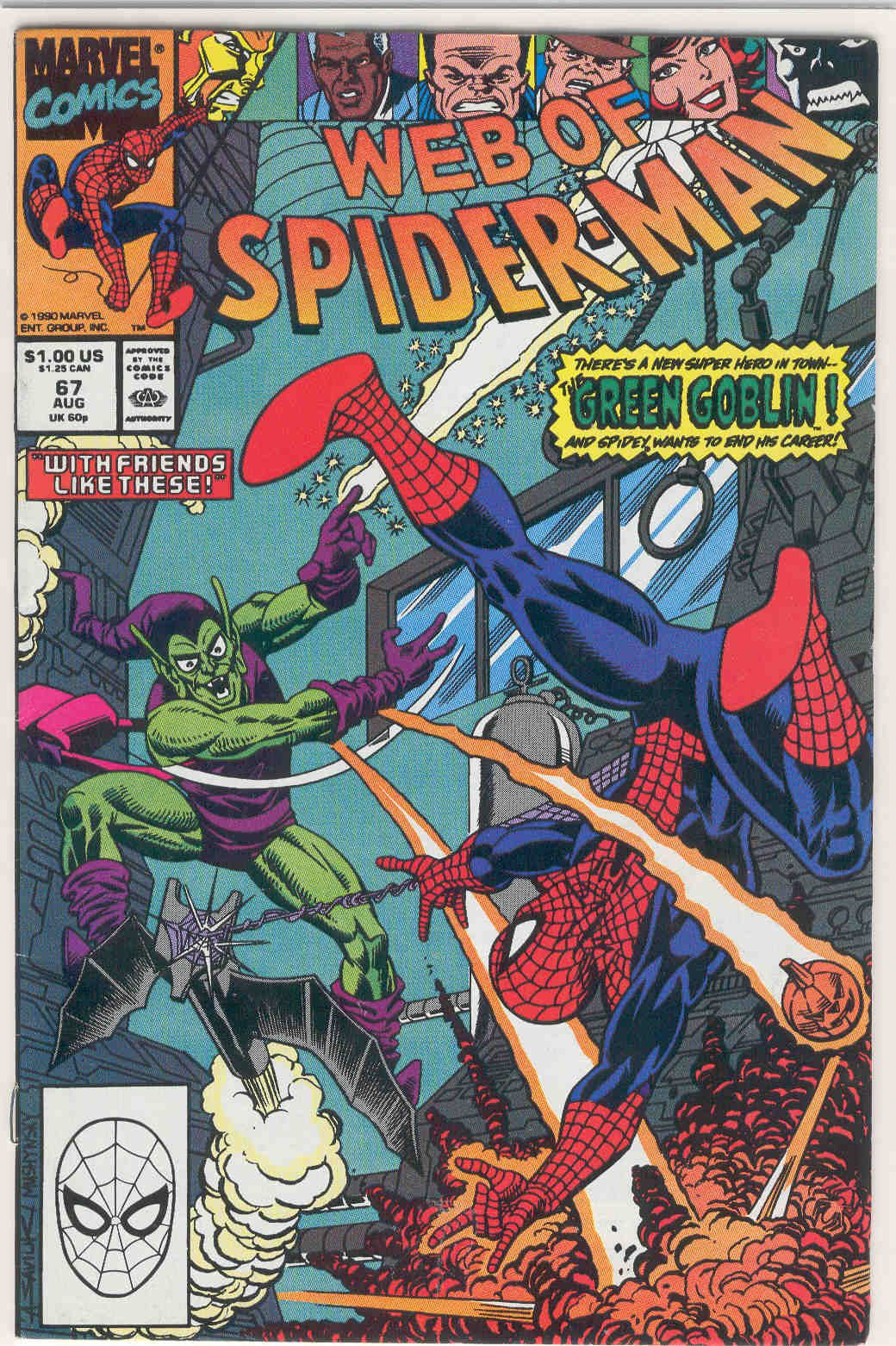 Title web of spiderman year publisher marvel number