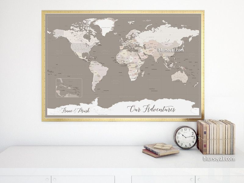 Custom quote printable world map with antarctica countries and custom quote printable world map with antarctica countries and states color combination light gumiabroncs Images