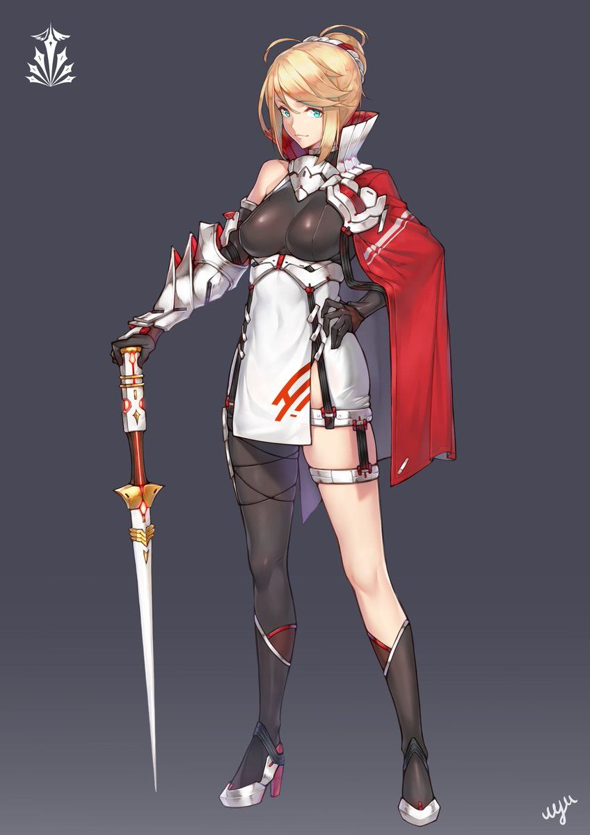 Https Twitter Com Shirouyu Status 906118589303754752 Photo 1 Female Knight Anime Character Design Female Character Design