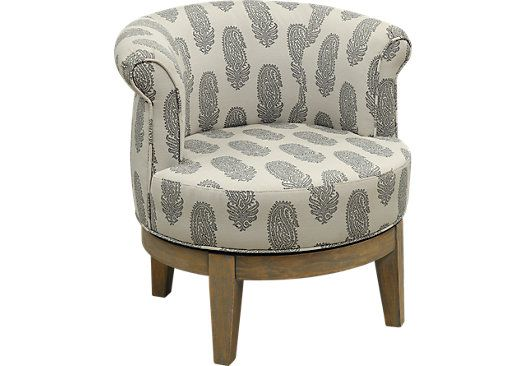 Picture Of Kateri Gray Swivel Accent Chair From Decorative Chairs