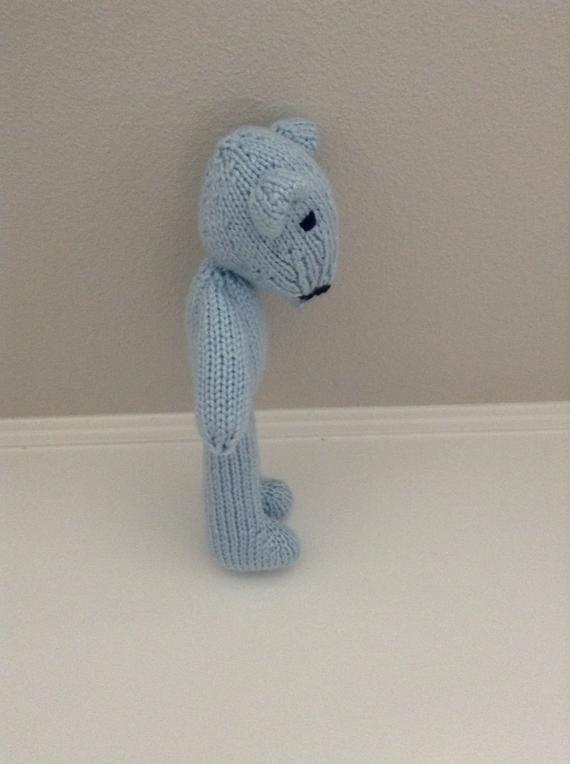 Photo of Stuffed Animal – Knitted Toy – Soft Toy – Teddy Bear – Stuffed Toy – Blue Teddy …