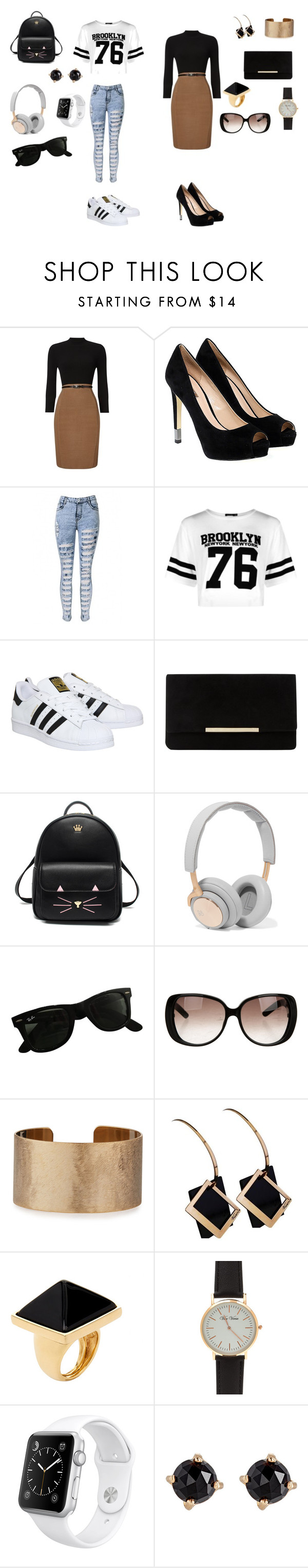 """""""imagination"""" by briyisantillan ❤ liked on Polyvore featuring Phase Eight, GUESS, Boohoo, adidas, Dune, B&O Play, Ray-Ban, Gucci, Panacea and Kenneth Jay Lane"""