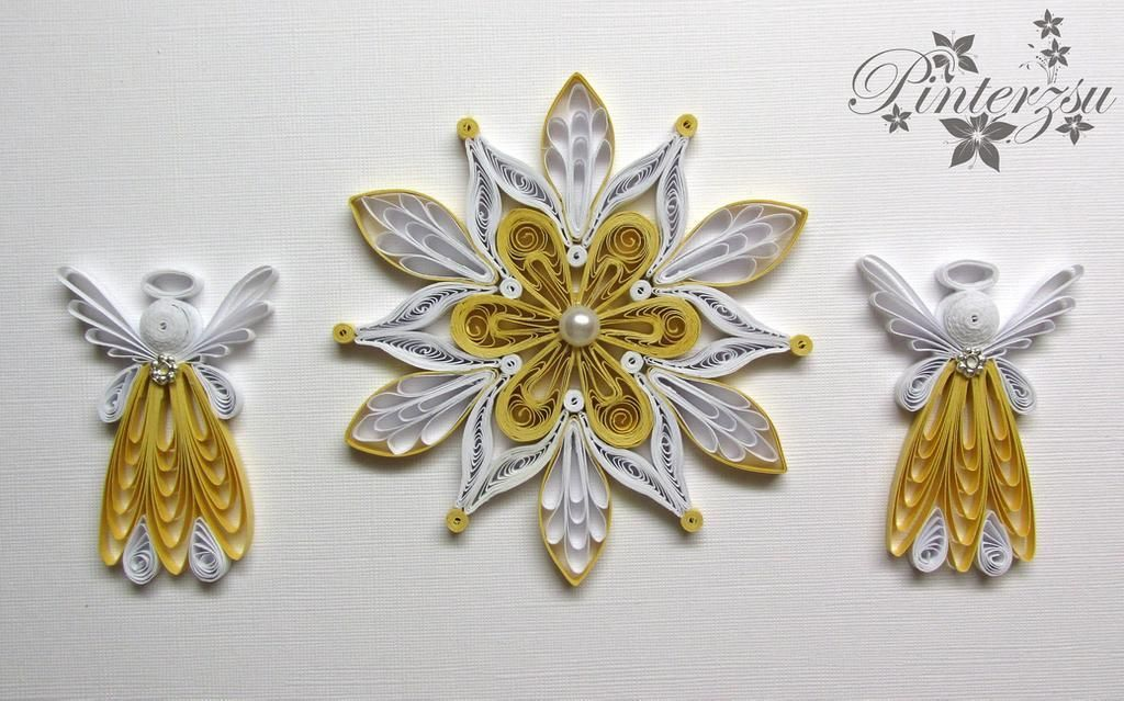 Photo of Quilled christmastree ornaments by pinterzsu on DeviantArt Biz