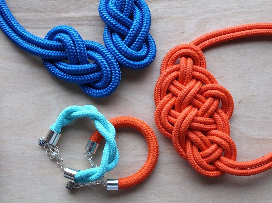 Krisztina Lango knotted jewelry Rope design Rope jewelry Knotted jewelry #ropejewelry #ropenecklace #knottedjewelry