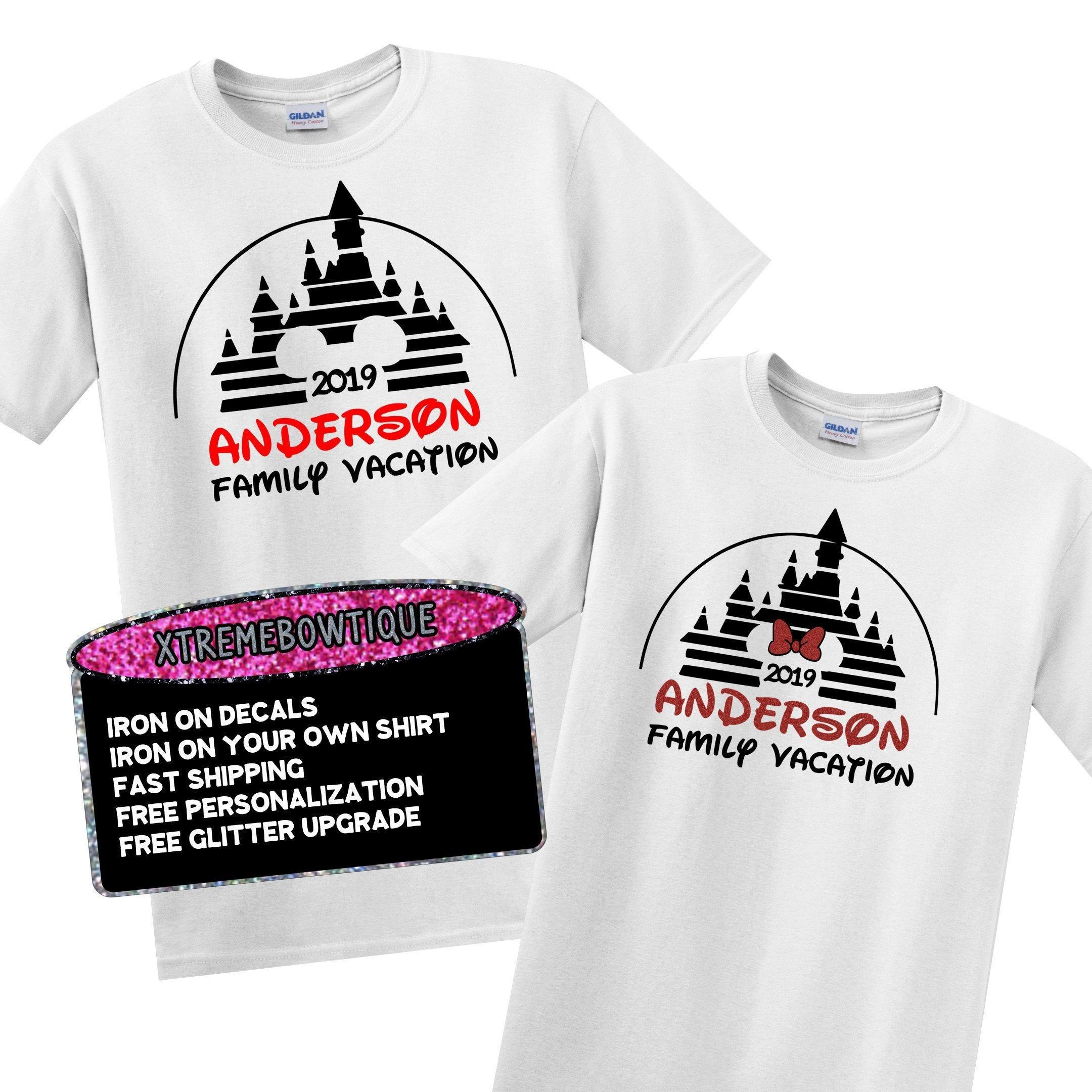 Disney Squad Iron On Decals for Matching Group Shirts