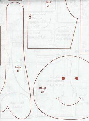 Клоун.Текстильная кукла.Выкройка.. Обсуждение на LiveInternet - Российский Сервис Онлайн-Дневников