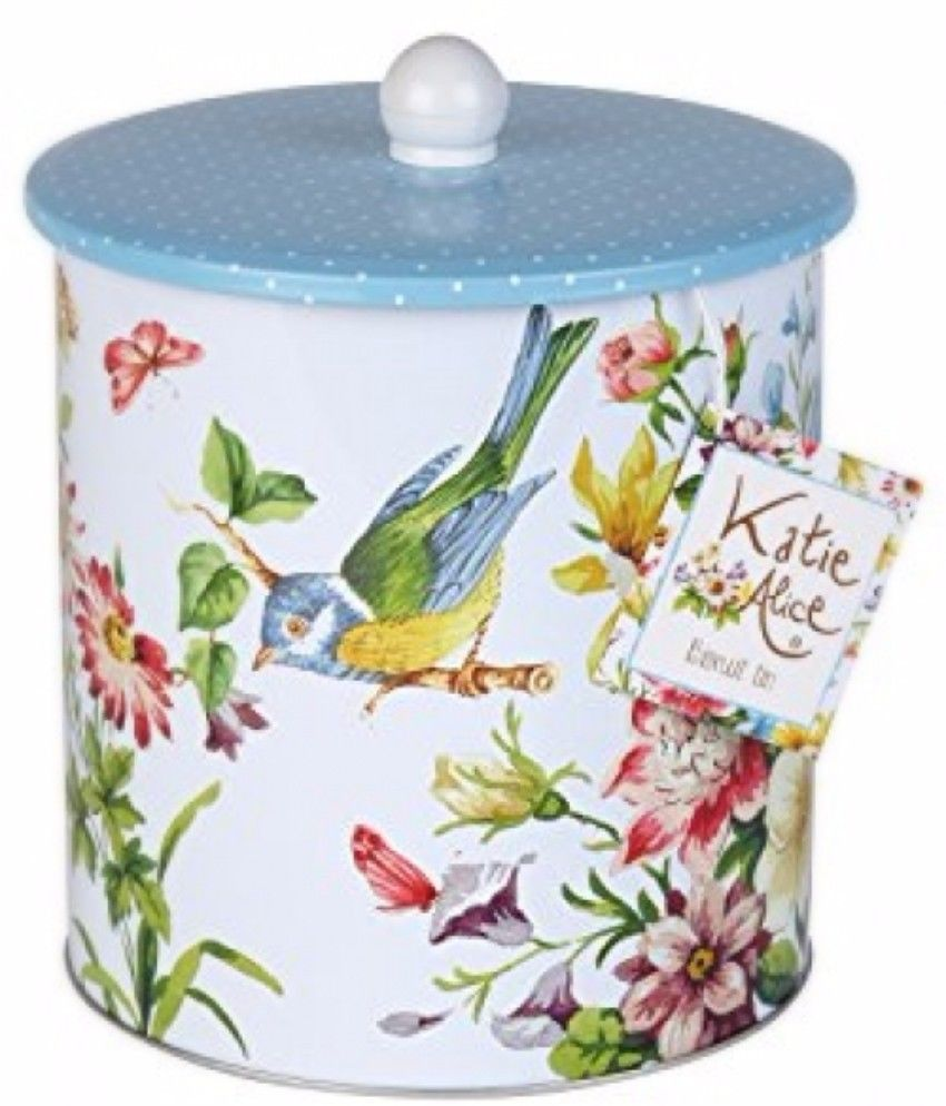 Katie Alice English Garden Biscuit Tin Barrel Kitchen Storage Jar MultiColour