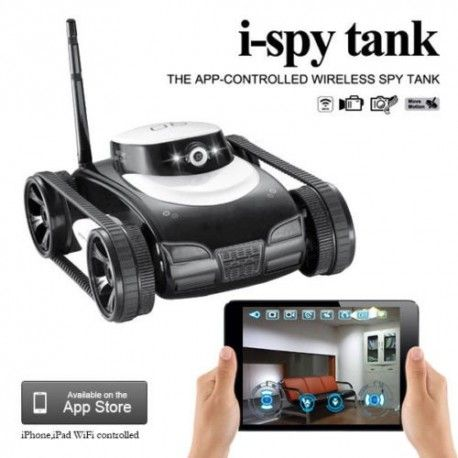 Smart iSpy Tank Video Camera APP Controlled for iPhone