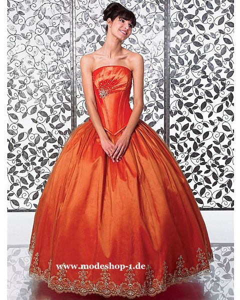 Quinceanera Mode Ballkleid Brautkleid Taiwan Orange www.modeshop-1 ...