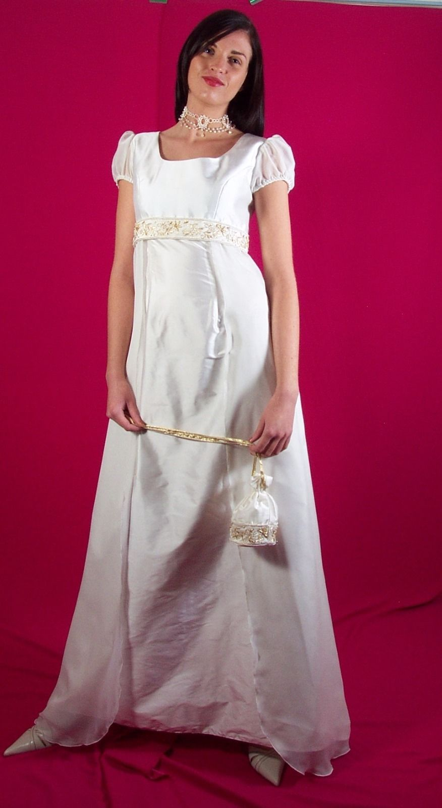 Silk dupoin designer wedding dress ebay wedding dress