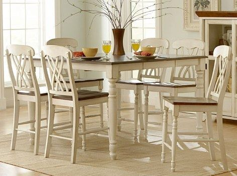Homelegance Two Tone Counter Height Dining Set In Wood Dining
