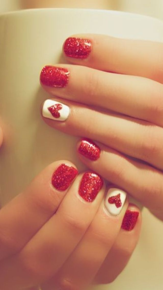 55 Cute Valentine Nail Art Designs to Wear your Feelings - Latest Fashion  Trends - Pin By Linda Andruch On Nail Designs Pinterest Makeup