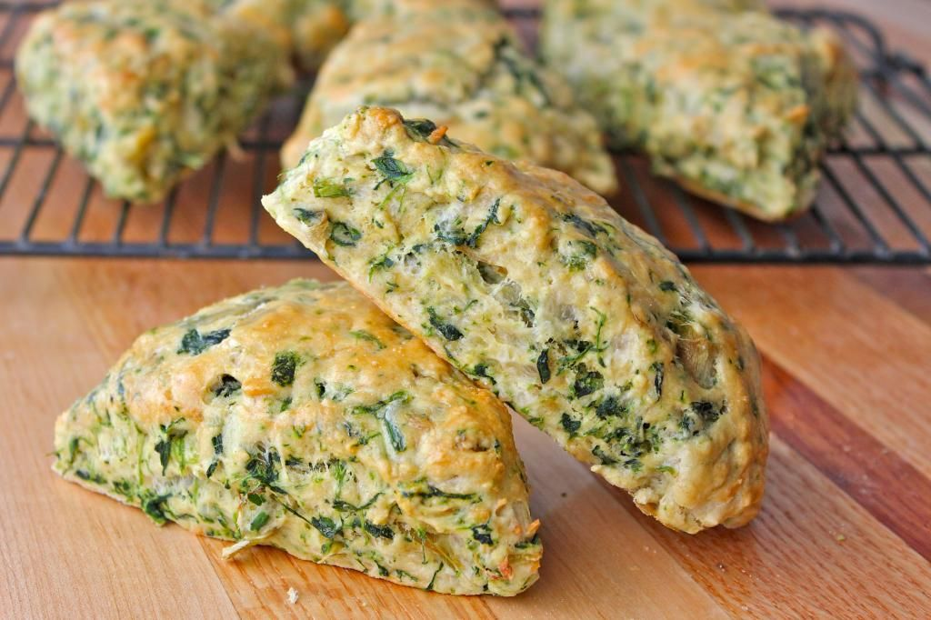 Spinach Artichoke Scones from The BakerMama - Gold Medal Blog