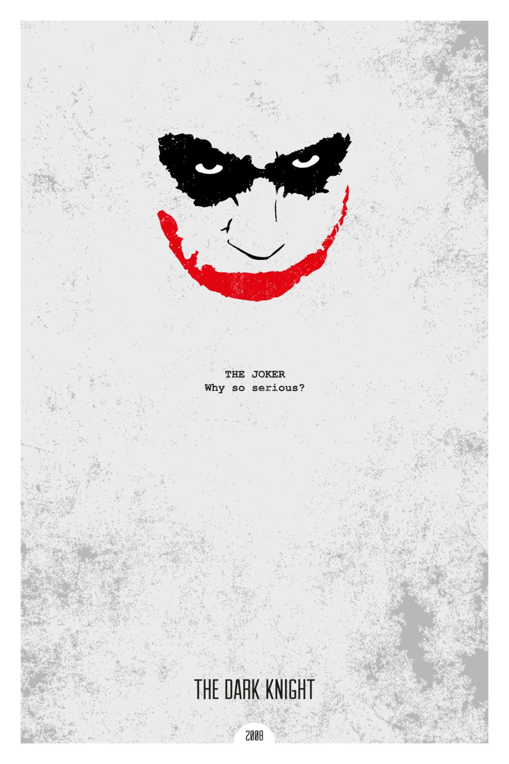 THE DARK KNIGHT 12x18 Minimal Movie Poster Print of Quote from the film.