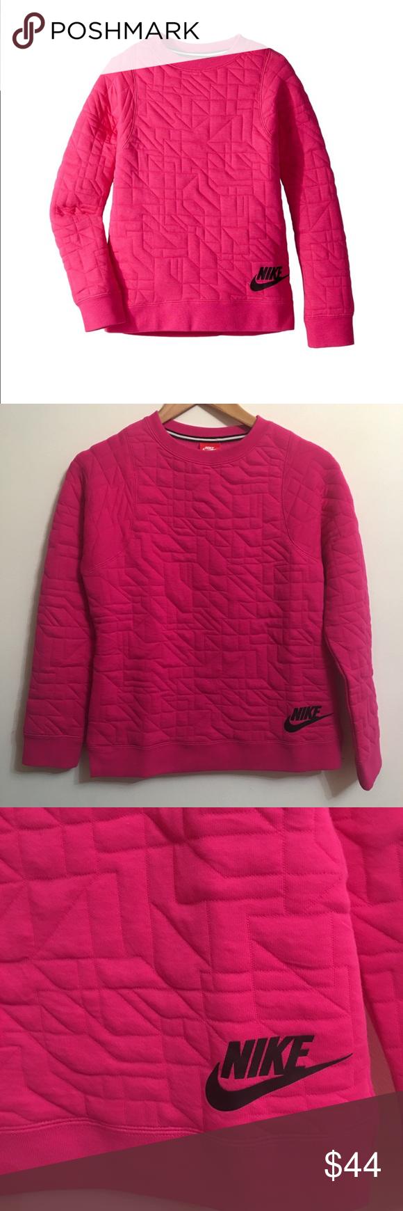 Nike crew for girls sportswear hot pink and sweatshirt