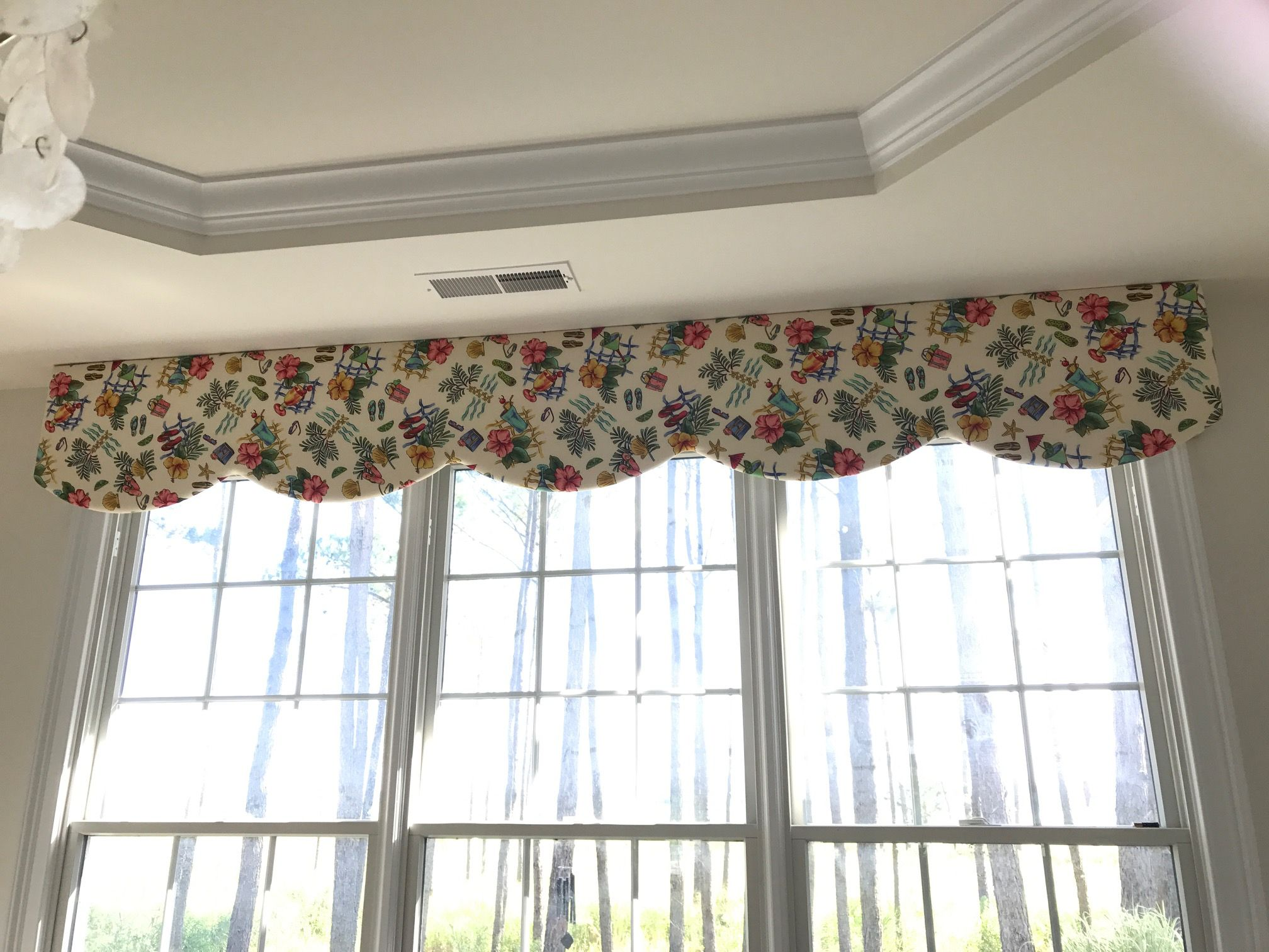 Custom Cornice Built By Rtc And Upholstered By Our Customer