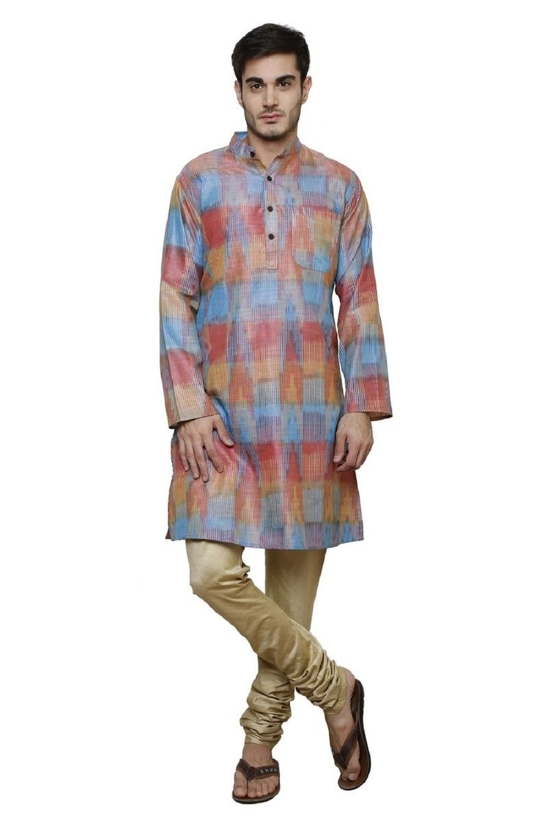 efbc6e1acc4  Trendy    stylish Cotton Silk  HandWoven  MensKurta available at   wholesale price