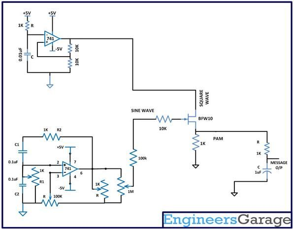 Circuit Diagram Of Low P Filter | The Low Pass Filter For The Pam Modulator Is Designed In Such A Way