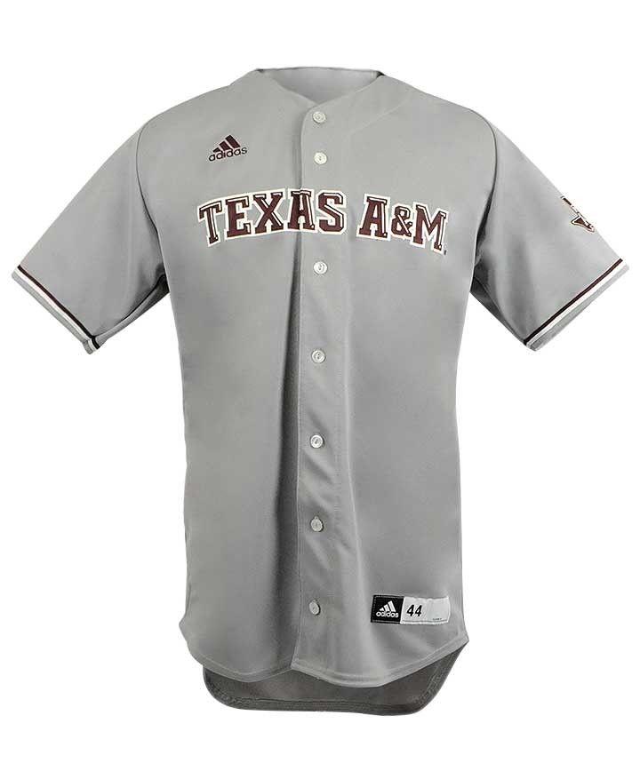4c761b657 Texas A M Aggies Adidas Men s Grey Lonestar Baseball Jersey