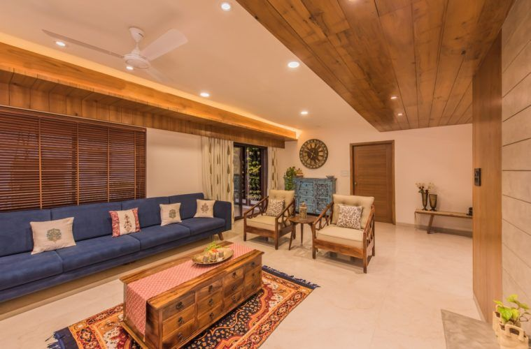 Contemporary Indian Style Apartment Interiors Ms Design Studio The Architects Diary In 2020 Indian Living Rooms Apartment Interior Indian Home Interior